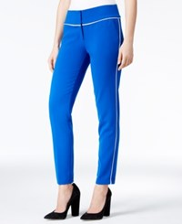 Xoxo Juniors' Natalie Contrast Trim Pants Cobalt White