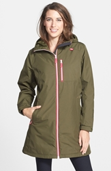 Helly Hansen 'Belfast' Long Waterproof Winter Rain Jacket Olive Night