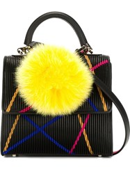 Les Petits Joueurs Small Pleated Tote Black