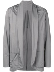 Attachment Draped Lightweight Jacket Grey
