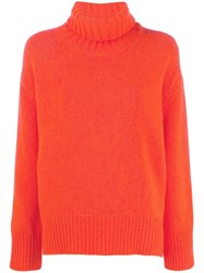 Woolrich Turtleneck Jumper Orange