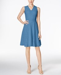 Charter Club Petite Lace Fit And Flare Dress Only At Macy's Smokey Sky