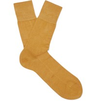 Falke Tiago Stretch Cotton Socks Mustard