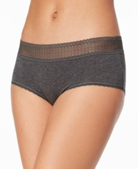 By Jennifer Moore Lace Waist Hipster Created For Macy's Heather Grey