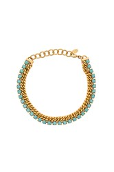 Elizabeth Cole Double Layer Chain Choker Metallic Gold