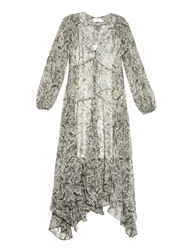 Zimmermann Gemma Python Print Silk Chiffon Dress