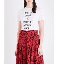Prabal Gurung This Is What A Feminist Looks Like Jersey T Shirt White