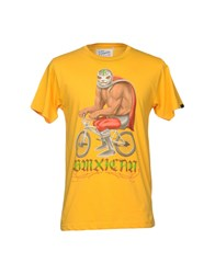 Upper Playground Topwear T Shirts Yellow