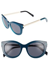 Draper James Women's 53Mm Modified Cat Eye Sunglasses Blue