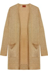 Missoni Metallic Knit Cardigan Gold