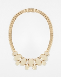 Paper Dolls Stone Set Collar Necklace Cream