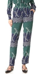 Yigal Azrouel Trellis Printed Pants Midnight Multi