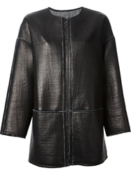 Sylvie Schimmel Collarless Coat Black