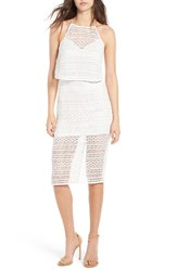 Line And Dot Women's Daiguri Lace Halter Dress