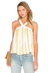 Lucca Couture Halter Tank White