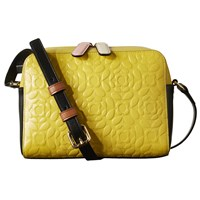 Orla Kiely Flower Stem Abby Leather Cross Body Bag Yellow