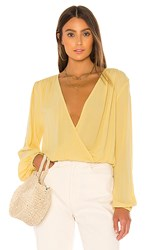 Amuse Society Bellisima Top In Yellow. Golden Hour