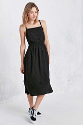 Cooperative Dolly Backless Apron Midi Dress Black