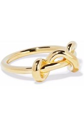 Elizabeth And James Gold Tone Ring Gold
