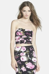 Leith Print Ruched Floral Tube Top Multi