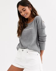 Abercrombie And Fitch Grey Waffle Logo Top