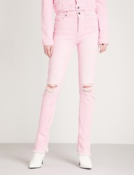 Cotton Citizen Distressed Skinny High Rise Jeans Light Pink