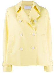 Harris Wharf London Double Breasted Jacket Yellow