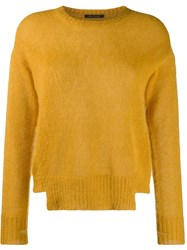 Luisa Cerano Crew Neck Jumper Yellow