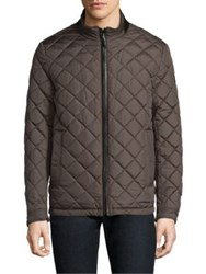 Tumi Reversible Quilted Jacket Khaki
