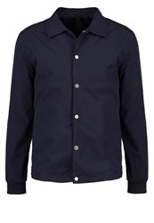 Minimum Gus Summer Jacket Dark Navy Dark Blue
