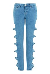 Topshop Bow Detail Jeans By Glamorous Blue