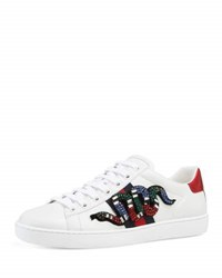Gucci Ace Snake Low Top Sneaker White