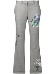 Each X Other Floral Print Tailored Trousers Grey