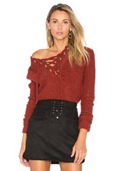 Lovers Friends X Revolve Rocky Sweater Rust
