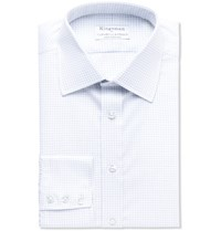 Kingsman Turnbull And Asser Checked Cotton Shirt Gray
