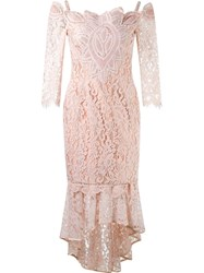 Martha Medeiros Midi Lace Dress Pink And Purple