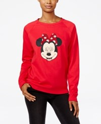 Freeze 24 7 Disney Minnie Mouse Sequin Graphic Sweatshirt Red