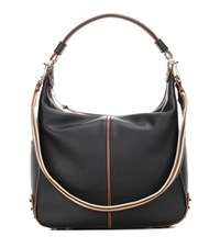 Tod's Miky Medium Leather Shoulder Bag Black