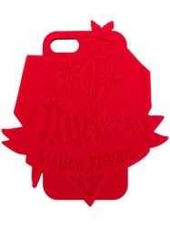 Maison Kitsune Tropical Iphone X Case Red