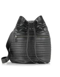 Zadig And Voltaire Bobo Black Quilted Leather Bucket Bag
