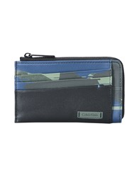 Calvin Klein Small Leather Goods Document Holders Dark Blue