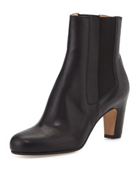 Leather Pull On Ankle Boot Black Maison Martin Margiela