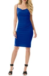 Women's Laundry By Shelli Segal Ruched Jersey Body Con Dress Blue Beret