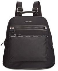 Calvin Klein Dressy Nylon Backpack Black Black