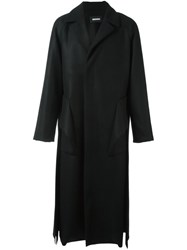 Moohong Long Trench Coat Black