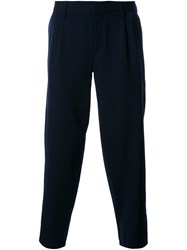 Kolor Tapered Cropped Trousers Blue