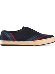 Paul Smith Rainbow Stripe Lace Up Shoes