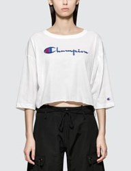Champion Reverse Weave Cropped 3 4 Sleeves T Shirt
