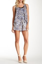 Zoa Double Layer Flared Romper Blue