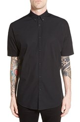 Men's Zanerobe 'Rugger' Oversize Longline Short Sleeve Woven Shirt